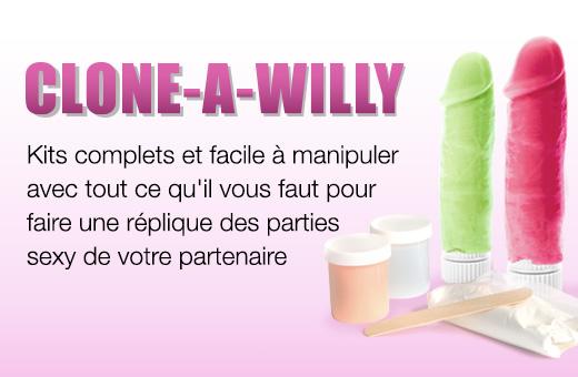 Clone-A-Willy Kits de moulage pour vibromasseur