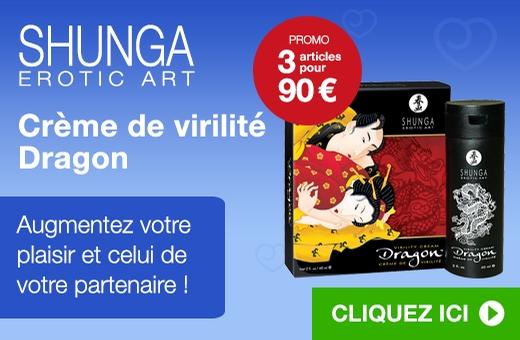 Shunga Erotic Art Crème de virilité Dragon