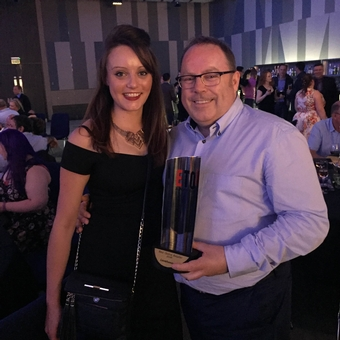 Laura Wood and Jim Primrose ETO Awards