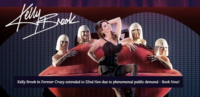 Kelly Brook guest appearance at Crazy Horse wearing Kunza Suede Bondage Corset