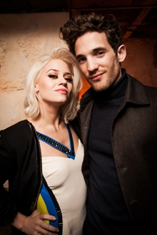 Kimberley Wyatt from Pussycat Dolls with Max Rogers at Coco de Mer party