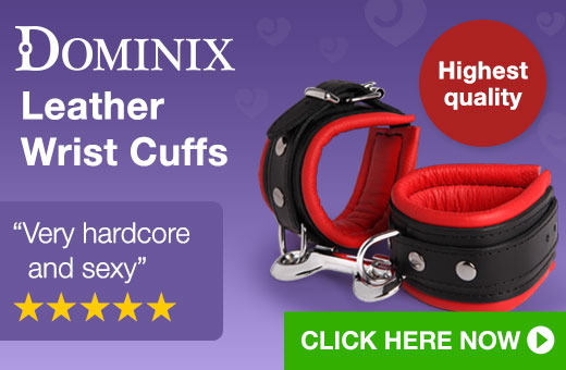 Dominix Deluxe Leather Wrist Cuffs