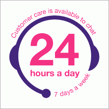 Lovehoney Customer Care is available to chat 24 hours a day 7 days a week