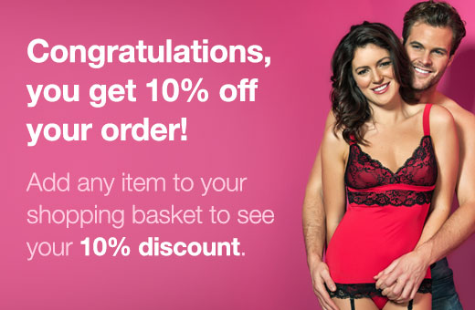 Congratulations, you get 10% off your order!