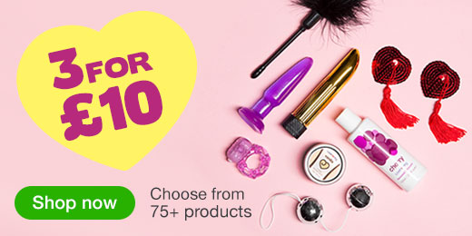 ^Get Started with 3 for £10 Sex Toys and Gifts