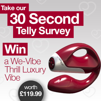 Take Our 30 Second Telly Survey with a We-Vibe Thrill Up For Grabs