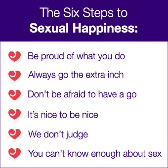 The Six Steps to Sexual Hapiness