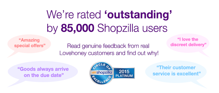 Lovehoney rated outstanding by Shopzilla customers