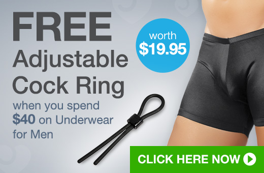 FREE Adjustable Cock Ring when you spend $40 on Underwear for Men