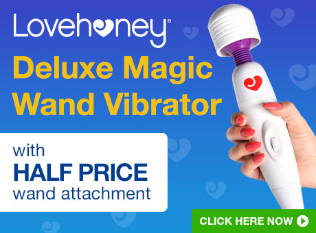Lovehoney Deluxe Wand Vibrator with HALF PRICE wand attachment