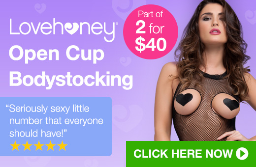 ^Lovehoney Open Cup Bodystocking