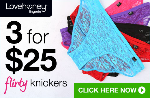 3 for 25 Flirty Knickers