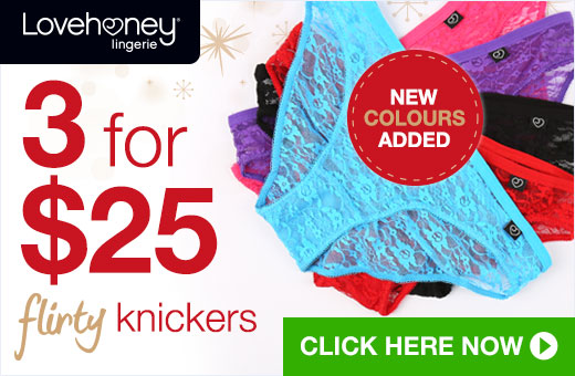 3 for $25 Flirty Knickers
