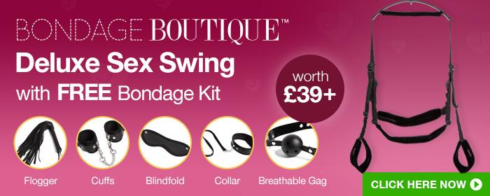 Bondage Boutique Deluxe Sex Swing with FREE Bondage Kit