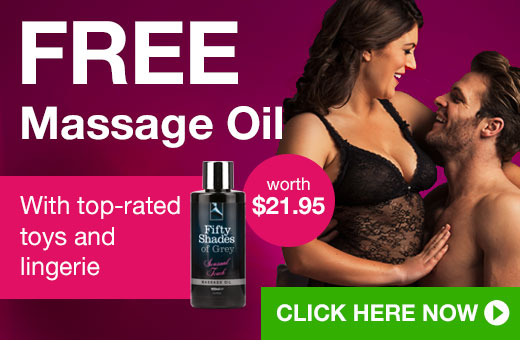 FREE Massage Oil with top-rated toys and lingerie