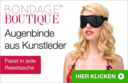Bondage Boutique Augenbinde aus Kunstleder