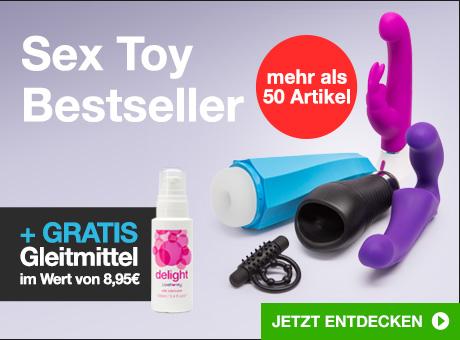 Sex Toys Bestsellers + GRATIS Gleitmittel im Wert von 8,95€
