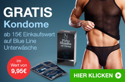 GRATIS Kondome ab 15€ Einkaufswert auf Blue Line Unterwäsche
