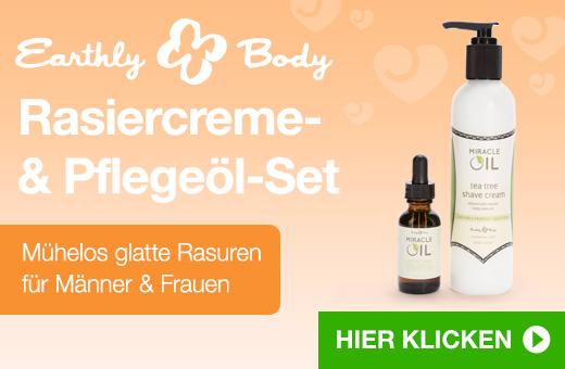 Earthly Body Rasiercreme & Pflegeöl-Set