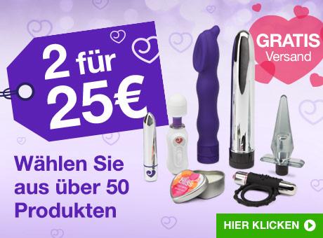 2 für 25€ auf Sex Toys und Dessous