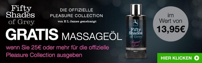 ^GRATIS Massageöl, wenn Sie mehr als 25€ für die Offizielle Pleasure Collection ausgeben