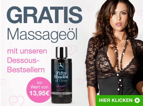 GRATIS Massageöl mit unseren Dessous-Bestsellern