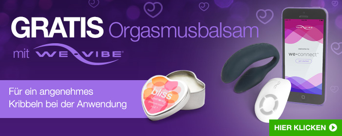 ^ GRATIS Bliss Orgasmusbalsam mit We-Vibe