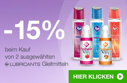 -15% beim Kauf von 2 ausgewählten ID Lubricants Gleitmitteln