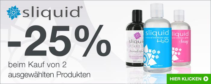 -25% beim Kauf von 2 ausgewählten Sliquid Produkten