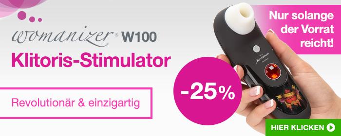 ^ Womanizer W100 Klitoris-Stimulator - 25% Rabatt