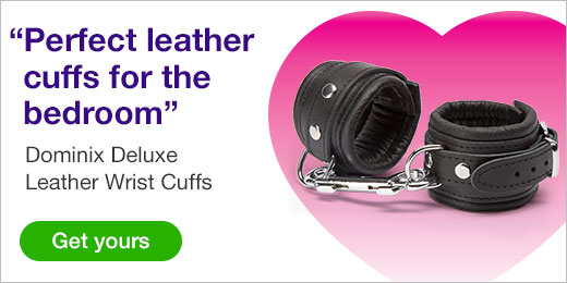 ^ Perfect Leather Cuffs for the Bedroom! Dominix Deluxe Leather Cuffs