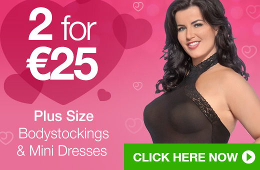 2 for €25 Plus Size Bodystockings and Mini Dresses