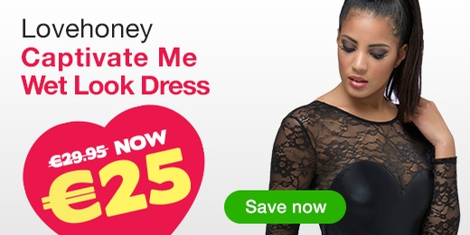 ^Lovehoney Captivate Me Wet Look Dress