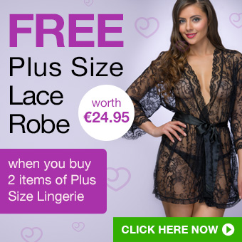 FREE Plus Size Lace Robe when you buy 2 items of Plus Size Lingerie
