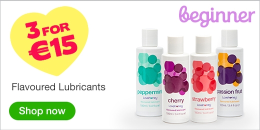^ 3 for €15 Flavoured Lubricants