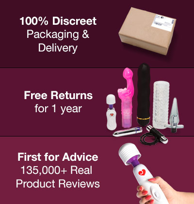 100% Discreet Packaging and Delivery, Free Returns for 1 Year, First for Advice