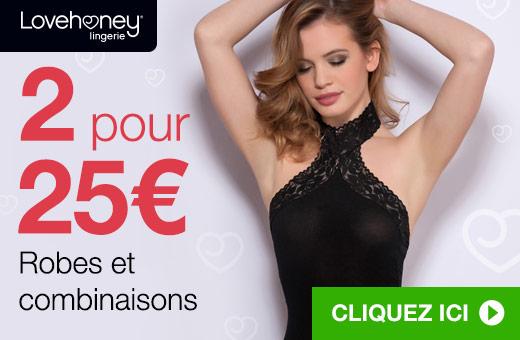 2 pour 25€ Robes et combinaisons