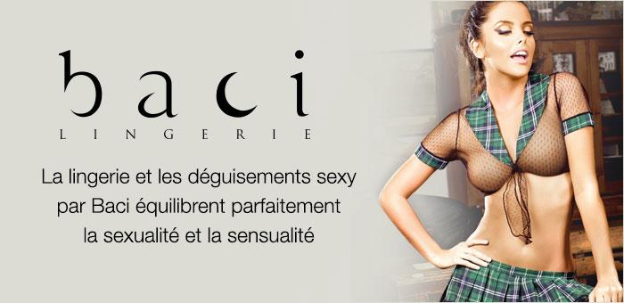 La lingerie et les déguisements sexy par Baci équilibrent parfaitement la sexualité et la sensualité