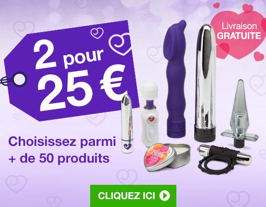 Sex toys et cadeaux coquins - 2 articles pour 25 €