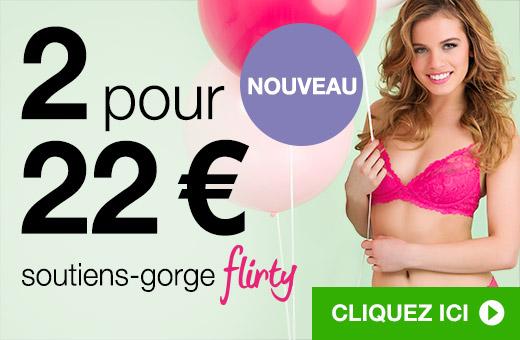 2 pour 22€ soutiens-gorge Flirty