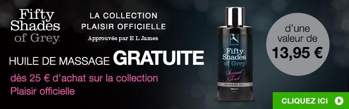 ^Huile de massage GRATUITE dès 25 € d'achat sur la collection Plaisir officielle