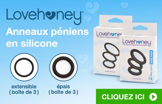 Lovehoney Lots d'anneaux péniens en silicone