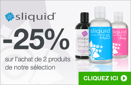 -25% sur l'achat de 2 produits Sliquid de notre sélection