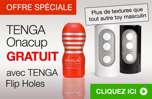^ TENGA Onacup gratuit avec Flip Holes
