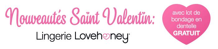 Offre Saint Valentin Lingerie Lovehoney avec lot de bondage en dentelle gratuit