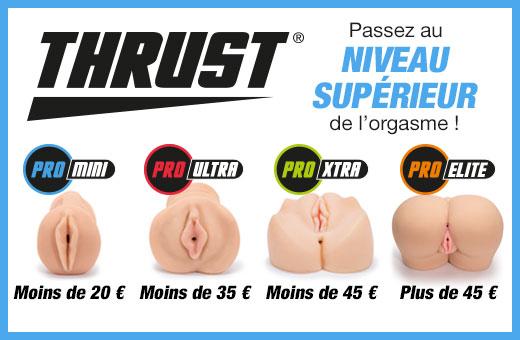 ^ THRUST Vaginettes réalistes - Passez au niveau supérieur de l'orgasme