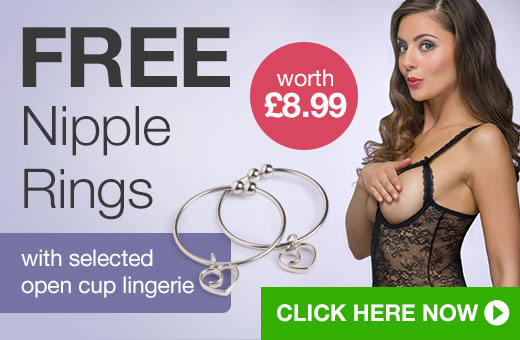FREE Nipple Rings with selected open cup lingerie
