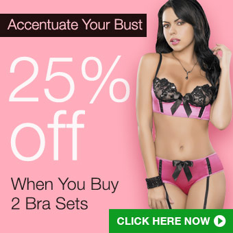 25% off when you buy 2 bra sets