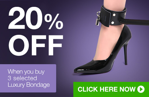 20% off when you buy 3 selected luxury bondage