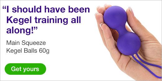 ^ Lovehoney Main Squeeze Kegel Balls 60g